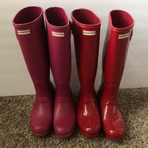 TWO Pairs of Tall Hunter Boots